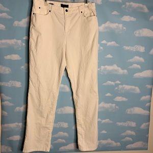 Talbots- Heritage White Corduroy Pants size 14
